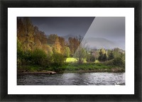Brecon Beacons and river Usk Picture Frame print