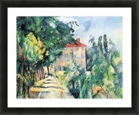 House with Red Roof by Cezanne Picture Frame print