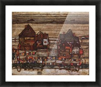 Houses with laundry lines and suburban by Schiele Picture Frame print