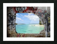 Paradise Picture Frame print