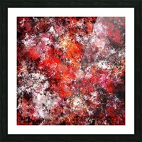 The red sea foam Picture Frame print