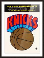 1980 New York Knicks Fleer Decal Art Picture Frame print