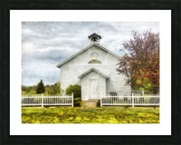 Old School House Picture Frame print