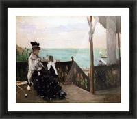In a villa on the beach by Morisot Picture Frame print