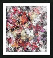 Thermal fractures Picture Frame print