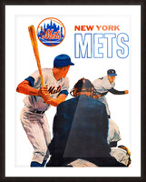 retro new york mets poster Picture Frame print