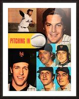 vintage mets poster tom seaver pitcher Picture Frame print
