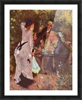 In the Garden (in the garden bower of Moulin de la Galette by Renoir Picture Frame print