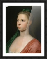 Young Woman in a Red Fur-Trimmed Coat Picture Frame print