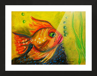 Gold Fish Picture Frame print