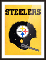 1968 Pittsburgh Steelers Helmet Poster Picture Frame print