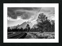 Grand Teton National Park Storm - Jackson Hole - Wyoming Picture Frame print