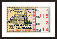 1928 Colgate vs. Syracuse Picture Frame print