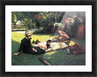 In the sun by Tissot Picture Frame print