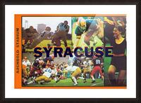 Vintage Syracuse Ticket Art Picture Frame print