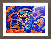 Blue Orange Clash Picture Frame print