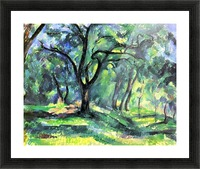 In the Woods by Cezanne Picture Frame print