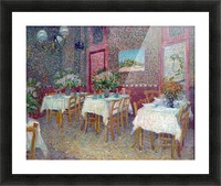 Interior of a Restaurant by Van Gogh Picture Frame print