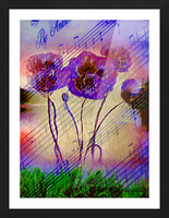 Dancing Flowers Picture Frame print