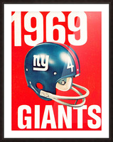 1969 new york giants football poster Picture Frame print