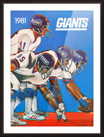1981 new york giants Picture Frame print