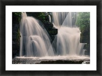 Waterfalls in Penllergare woods Picture Frame print