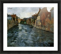 Riverside, View of Abbeville Picture Frame print