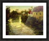 Village on the Bank of a Stream Picture Frame print