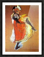 Jane Avril Dancing by Toulouse-Lautrec Picture Frame print