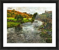 Two ladies at the river Picture Frame print