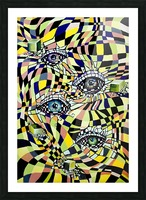 All Seeing Eye in Pop Surrealism  Picture Frame print