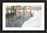 Snowy landscape Picture Frame print