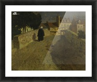 Towards the Pont Lovignon in Quimperle Picture Frame print