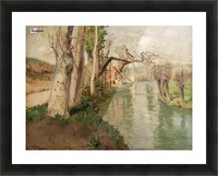 From Dieppe to Arques River Picture Frame print