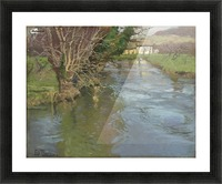 A stream in spring Picture Frame print