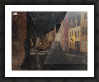 Street in Dieppe, night Picture Frame print