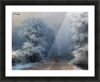 Winter landscape and alley Picture Frame print