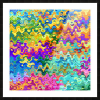 Colorful Abstraction Picture Frame print