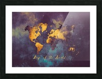 World Map 14 Picture Frame print