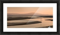 Loughor estuary at dusk Picture Frame print