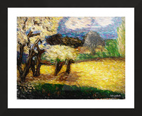 Yellow Summer Fields Picture Frame print
