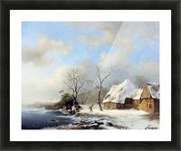 Winterlandscape Sun Picture Frame print