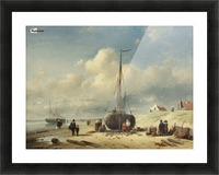 Repairing the Boat Picture Frame print