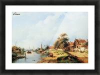 Summer river landscape Picture Frame print