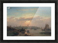 Evening on the Scheldt, Holland Picture Frame print
