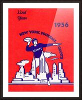 1956 new york giants vintage nfl poster Picture Frame print