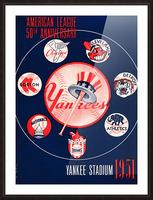 1951 new york yankees logo lon keller art Picture Frame print