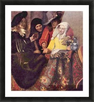 Kupplerin by Vermeer Picture Frame print