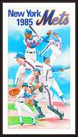 1985 new york mets baseball poster Picture Frame print