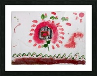 Myona red flower Picture Frame print